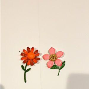 1970 Vintage flower pins.